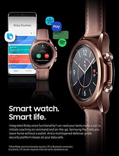 51bND0Zrp2L. AC  - Samsung Galaxy Watch 3 (41mm, GPS, Bluetooth) Smart Watch Mystic Bronze (US Version, Renewed) (Renewed)