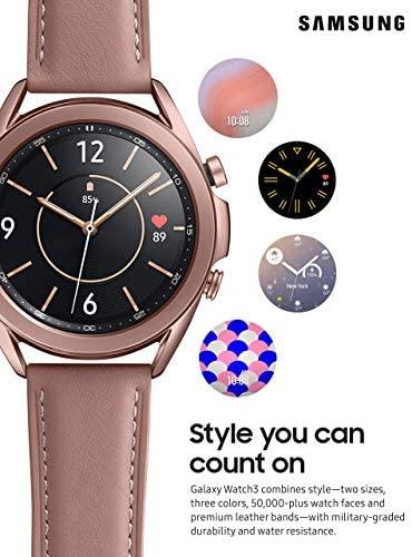 51w4RWyQcuL. AC  - Samsung Galaxy Watch 3 (41mm, GPS, Bluetooth) Smart Watch Mystic Bronze (US Version, Renewed) (Renewed)