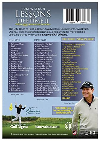 51yYFWiVXpL. AC  - Tom Watson Lessons of a Lifetime II - Three Discs and Booklet (2014)
