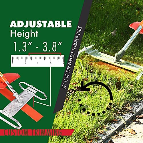 61FARmyoXCL. AC  - Flamingo PTS Brush Cutter Blade Stand Push Lawn Mower | Walk Behind Edger Push Reel Mower That Converts Your Grass Trimmer Weed Eater String Trimmers Into Push Type Lawn Grass Cutter