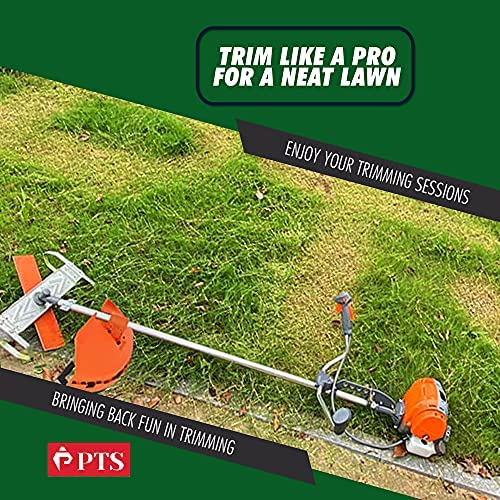 61tAnCObueL. AC  - Flamingo PTS Brush Cutter Blade Stand Push Lawn Mower | Walk Behind Edger Push Reel Mower That Converts Your Grass Trimmer Weed Eater String Trimmers Into Push Type Lawn Grass Cutter