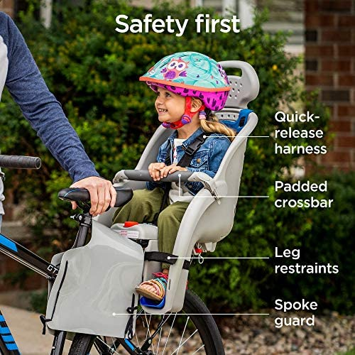 61ugU1ykX1L. AC  - Schwinn Deluxe Bicycle Mounted Child Carrier/Bike Seat For Children, Toddlers, and Kids