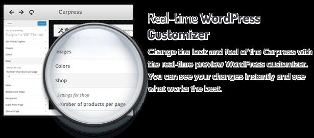 6 real time wp customizer fs8 - CarPress - WordPress Theme For Mechanic Workshops