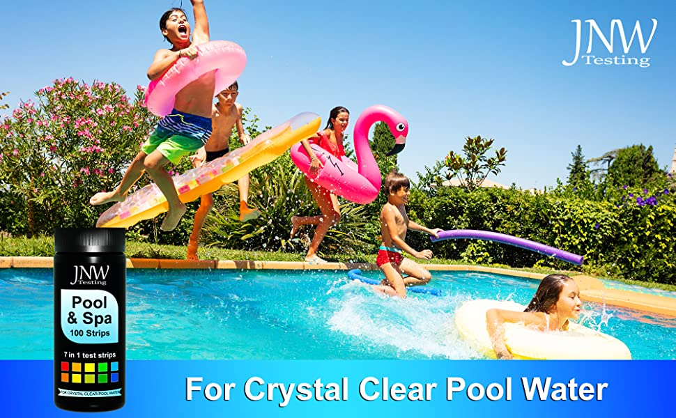 87c24cdb 248a 48bf 86d7 293fb4c69c79.  CR0,0,2000,1237 PT0 SX970 V1    - JNW Direct Pool and Spa Test Strips - 100 Strip Pack, Test pH, Chlorine, Bromine, Hardness and More, Accurate 7-in-1 Swimming Pool Water Testing