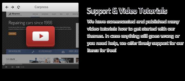 8 support and video tutorials fs8 - CarPress - WordPress Theme For Mechanic Workshops