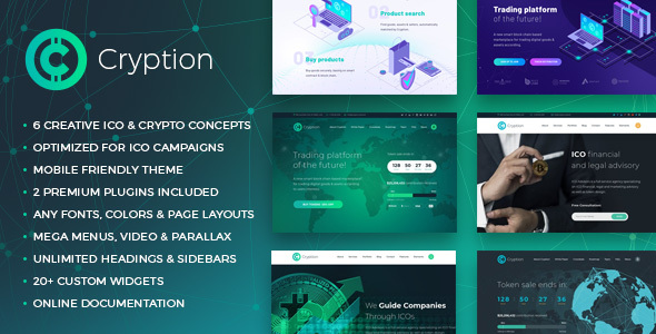 Cryption Preview New 1.  large preview - Cryption - ICO, Cryptocurrency & Blockchain WordPress Theme