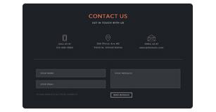 ajax contact form - Brando Responsive and Multipurpose OnePage WordPress Theme