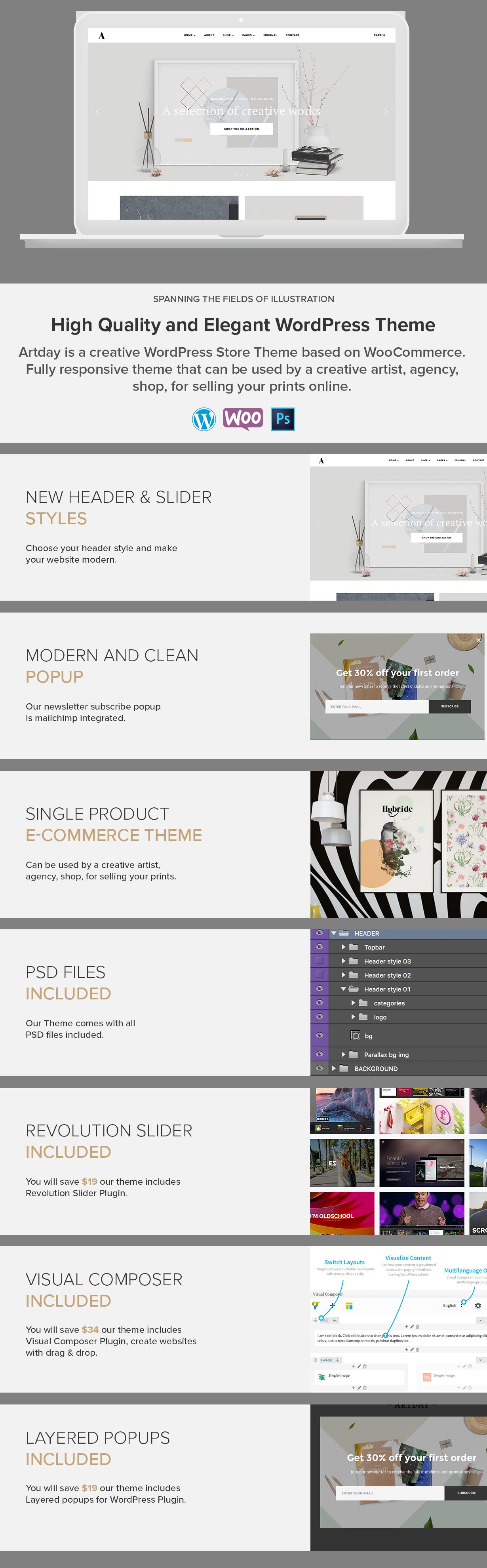 artday preview 02 - Artday - Creative Artist WordPress Shop
