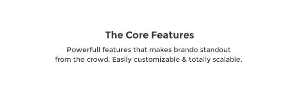 brando core features - Brando Responsive and Multipurpose OnePage WordPress Theme