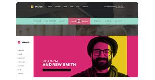 brando features img header and navigation - Brando Responsive and Multipurpose OnePage WordPress Theme