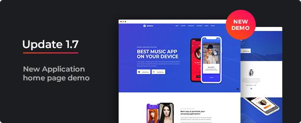 brando new demo application - Brando Responsive and Multipurpose OnePage WordPress Theme