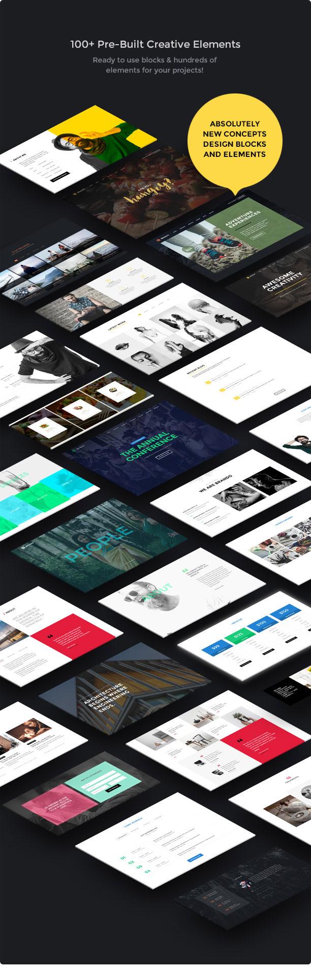 brando wp creative elements new - Brando Responsive and Multipurpose OnePage WordPress Theme