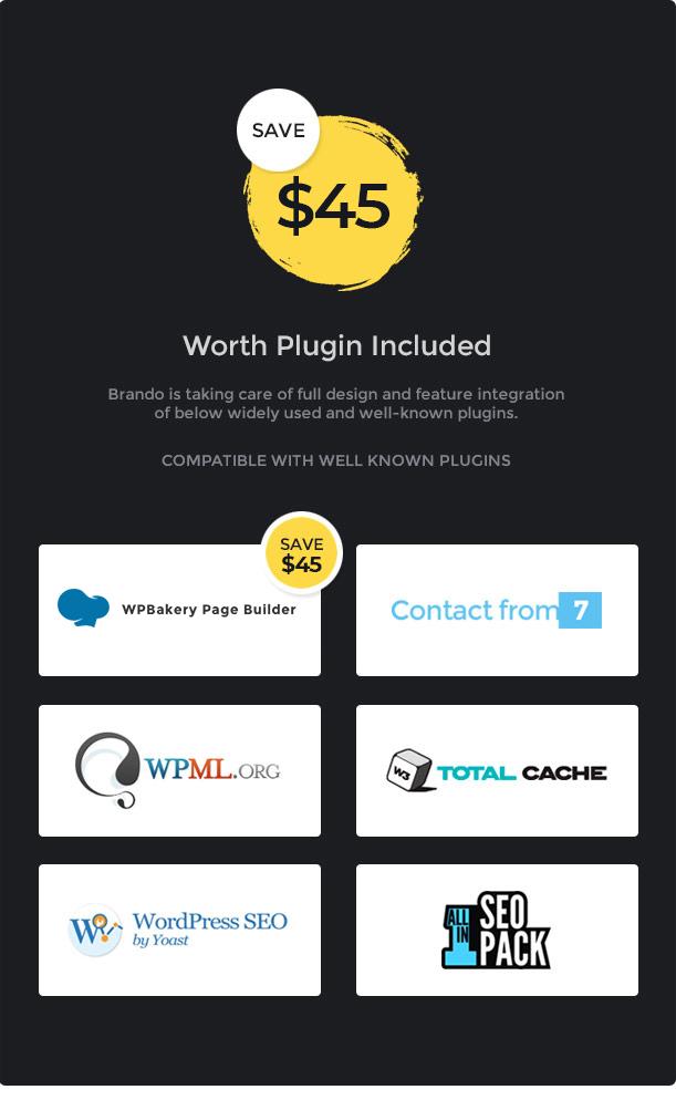 brando wp plugin included new 08 feb 2019 - Brando Responsive and Multipurpose OnePage WordPress Theme