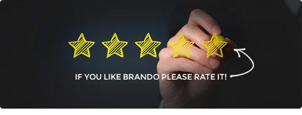 brando wp ratting new - Brando Responsive and Multipurpose OnePage WordPress Theme