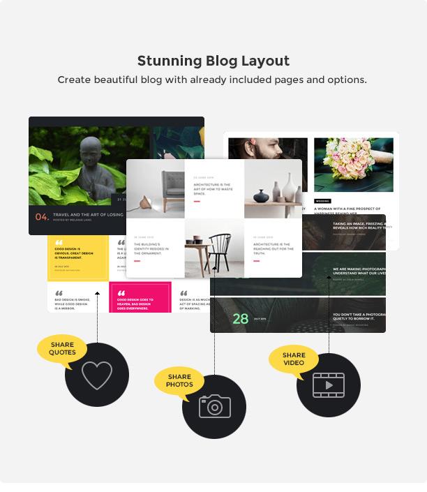 brando wp stunning blog new - Brando Responsive and Multipurpose OnePage WordPress Theme