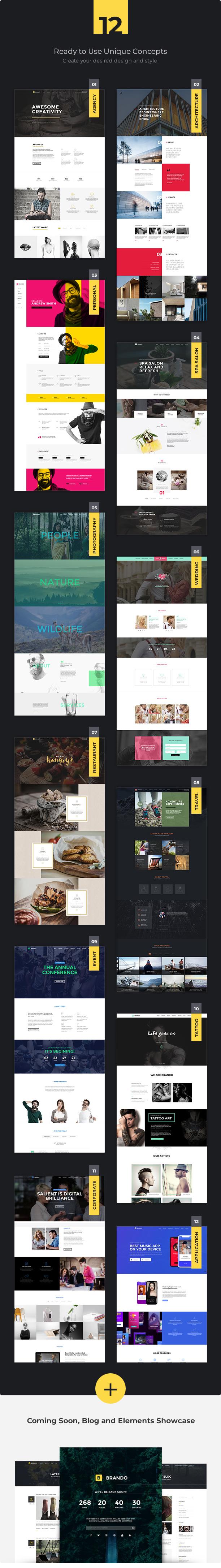 brando wp unique concepts demo v7 v2 - Brando Responsive and Multipurpose OnePage WordPress Theme