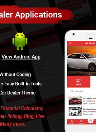 car dealer android app - Car Dealer -  Automotive Responsive WordPress Theme