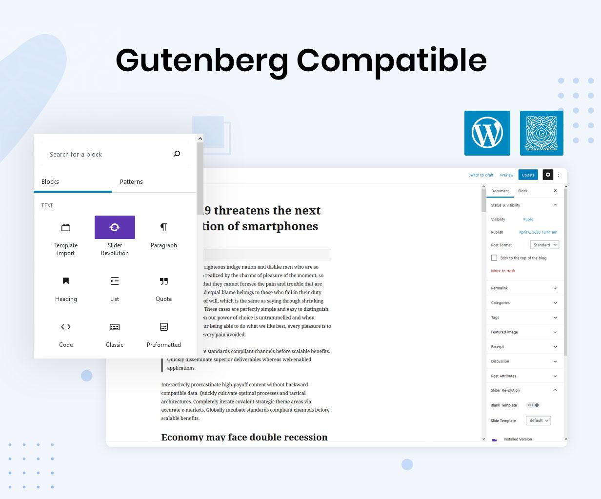 gutenburg 34 - Reobiz - Consulting Business WordPress Theme