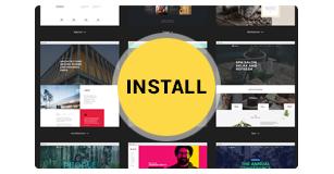 one click demo installation - Brando Responsive and Multipurpose OnePage WordPress Theme
