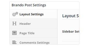 post customizations - Brando Responsive and Multipurpose OnePage WordPress Theme