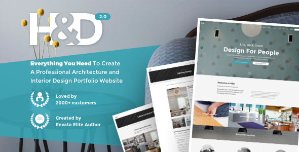 preview hd 590x300.  large preview - H&D 2.0 - Interior Design WordPress Theme