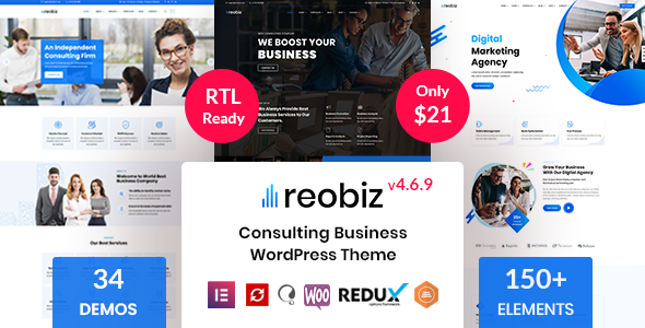 preview.  large preview - Reobiz - Consulting Business WordPress Theme