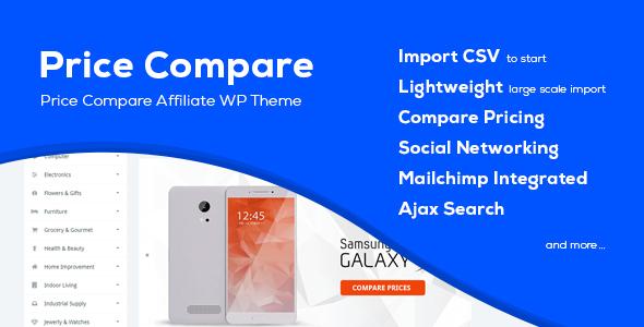 price compare.  large preview - Price Compare - Cost Comparison WordPress Theme