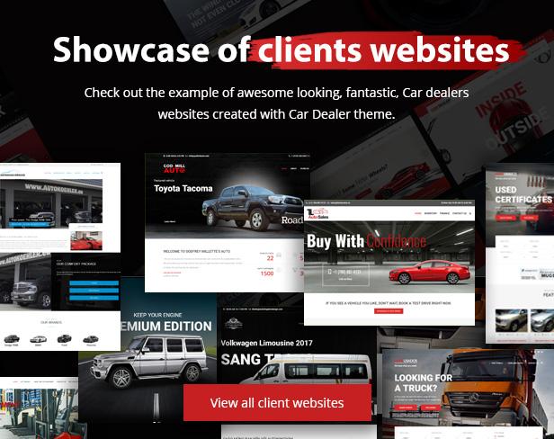 showcase - Car Dealer -  Automotive Responsive WordPress Theme