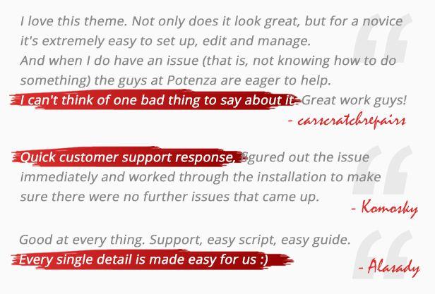 testimonial - Car Dealer -  Automotive Responsive WordPress Theme