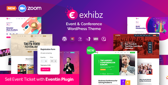 theme preview.  large preview - Exhibz | Event Conference WordPress Theme