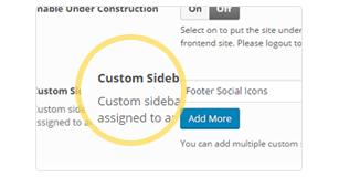 unlimited sidebars - Brando Responsive and Multipurpose OnePage WordPress Theme